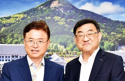 김무환 신임총장, 이철우 경상북도 도지사 예방